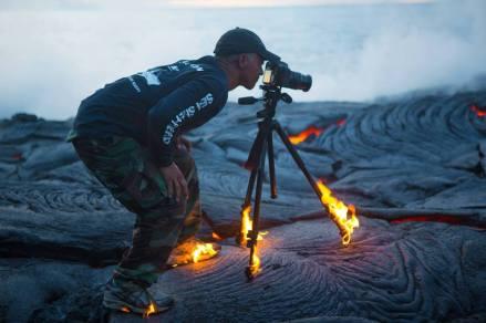 Walking-on-lava