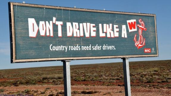 south australian road sign