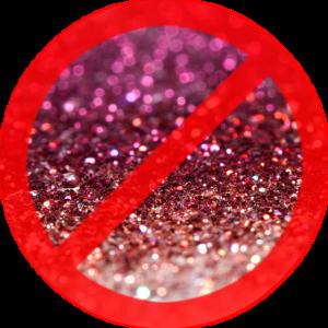 no-glitter